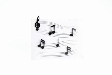 Memody Magneten - set van 6 leuke zwarte muzieknoten