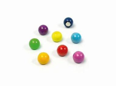 Leuke gekleurde balletjes magneten Rainball - 8 stuks per set