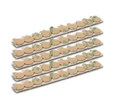 Voordeelset 100 stuks 10x1 mm zelfklevende neodymium schijfmagneetjes