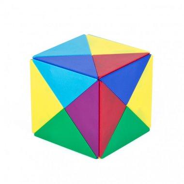 Magnetische Tangram - creatief kubusspel met 24 magnetische piramides