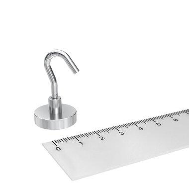 Potmagneet 20 mm met haak kleefkracht 10 KG