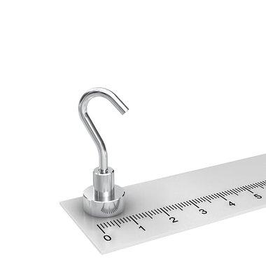 Potmagneet 12 mm met haak kleefkracht 4,5 KG