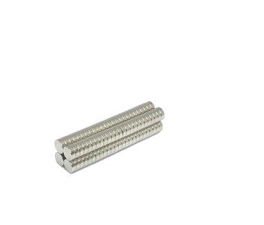Voordeelset 100 stuks neodymium schijfmagneetjes 6 x 2 mm N45