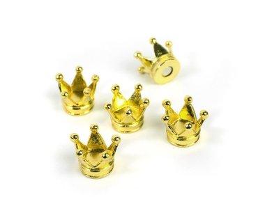 Metalen kroon magneten 'Royal' - set van 5 kroontjes