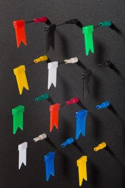 Superhandige magnetische vlaggetjes 2-delig - set van 6 stuks