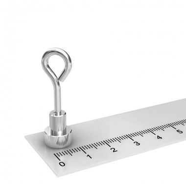 Potmagneet 10 mm met oog kleefkracht 2 KG