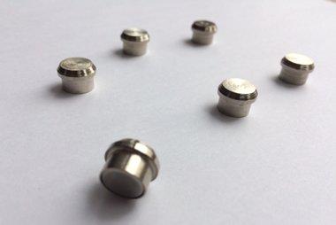 Sterke design RVS magneten - per 6 stuks in een set