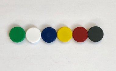 Magneetset ferriet 6 kleuren - set van 6 stuks