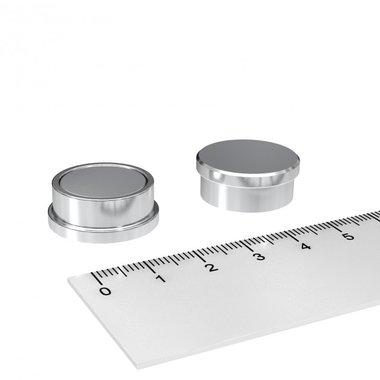 RVS kantoormagneet set 22x9 mm - set van 5 stuks