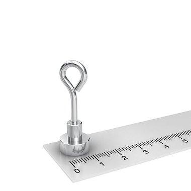 Potmagneet 12 mm met oog kleefkracht 4,5 KG
