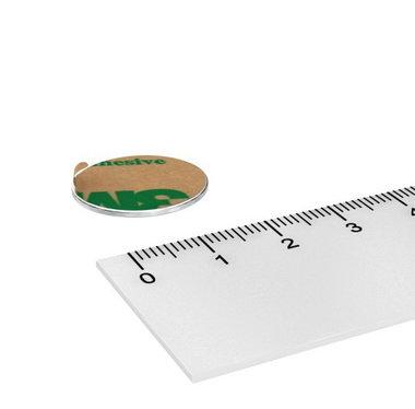 Metalen schijf 20 mm zelfklevend 3M als ondergrond voor magneten