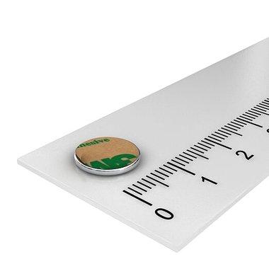 Metalen schijf 10 mm zelfklevend 3M als ondergrond voor magneten
