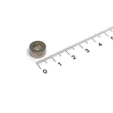 10x5 met boring van 5 mm vernikkeld N35