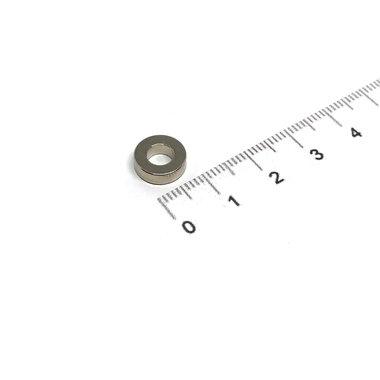 10x3 met boring van 5 mm vernikkeld N35