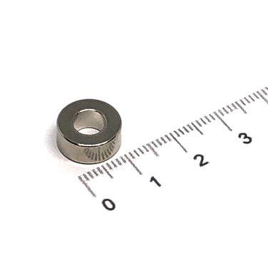 12x5 met boring van 6 mm vernikkeld N35
