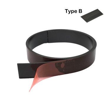 Zeflklevende magneetband 25,4 x 1000 mm met sterke premium klever - TYPE B