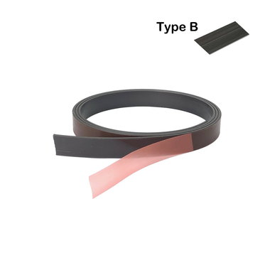 Zeflklevende magneetband 12,7 x 1000 mm met sterke premium klever - TYPE B