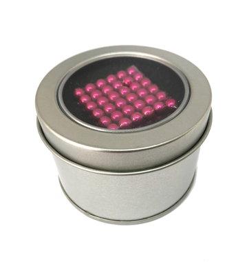 Kogelmagneetset 216 stuks 5mm vernikkeld N35 kleur Roze