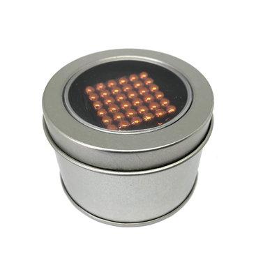 Kogelmagneetset 216 stuks 5mm vernikkeld N35 kleur Oranje