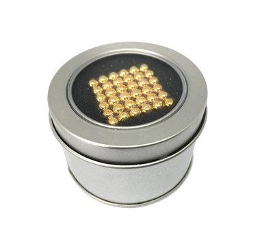 Kogelmagneetset 216 stuks 5mm vernikkeld N35 kleur Goud