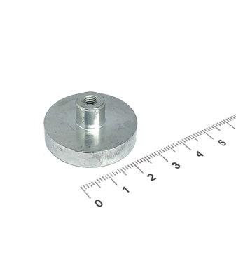 Neodymium Potmagneet 32 mm M5 draadbus 35 KG gegalvaniseerd