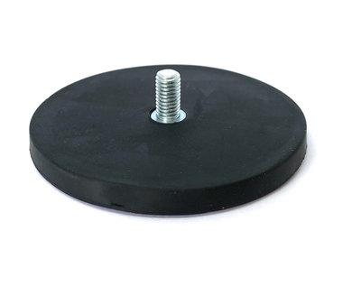 Rubber potmagneet 88 mm M8 buitendraad 56 KG gegalvaniseerd