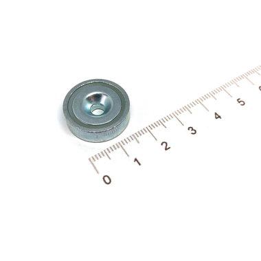 Neodymium Potmagneet 20 mm verzonken gat 10,7 KG gegalvaniseerd