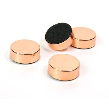 Magneet Disk - copper - set van 4 extra sterke magneten