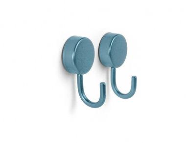 Mooie blauw metallic haak magneten - set van 2 stuks