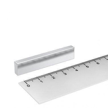 50x10x5 mm vernikkeld N45