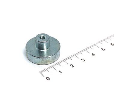 Neodymium Potmagneet 25 mm M4 draadbus 20 KG gegalvaniseerd