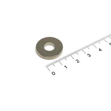 20x3 met boring van 8 mm vernikkeld N35