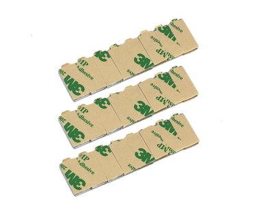 Voordeelset 48 stuks 20x10x1 mm zelfklevende neodymium blokmagneten