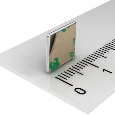 10x10x1 mm vernikkeld N35 Zelfklevend 3M