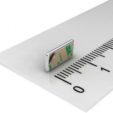 10x5x1 mm vernikkeld N35 Zelfklevend 3M