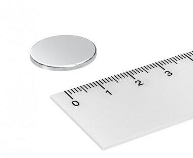20x2 mm vernikkeld N45