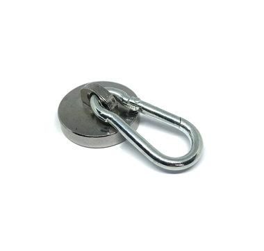 Sterke metalen karabijnhaak magneet - houdkracht 20 KG!