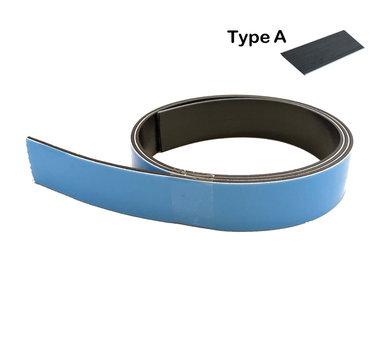 Zelfklevende magneetband 25,4 x 1000 mm met sterke superfoam klever - TYPE A