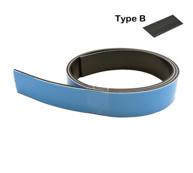 Zelfklevende magneetband 25,4 x 1000 mm met sterke superfoam klever - TYPE B