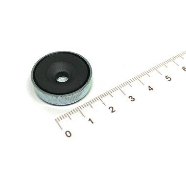 Ferriet Potmagneet 25 mm verzonken gat 3,6 KG gegalvaniseerd