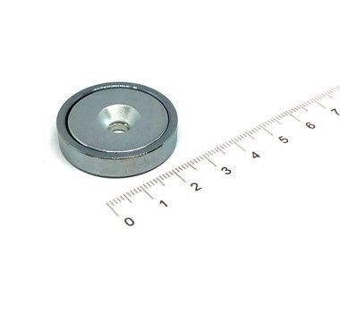 Neodymium Potmagneet 32 mm verzonken gat 31KG gegalvaniseerd