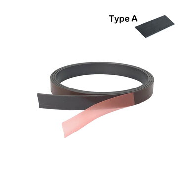 Zelfklevende magneetband 12,7 x 1000 mm met sterke premium klever - TYPE A