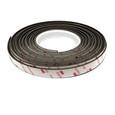 Neodymium magneetband 15 mm - rol 10 meter met sterke 3M klever - 415 g/cm²