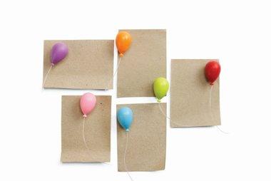 Ballon magneten van Qualy - set van 6 stuks