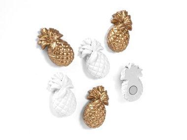 Ananas magneten Pineapple - set van 6 sterke neodymium magneten