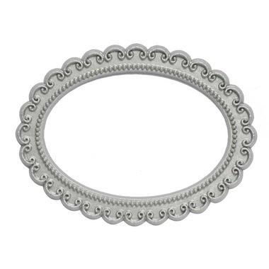 Magnetisch fotoframe kleur zilver - ovaal