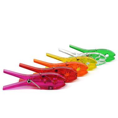 Gekleurde knijper magneten - set van 6 stuks