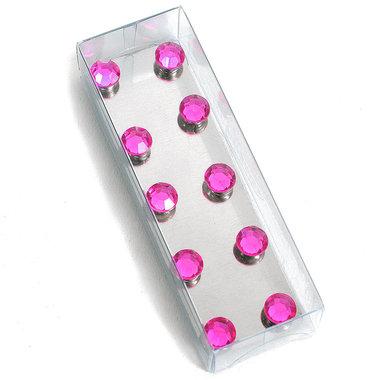 Sterke diamant magneetjes Roze - set van 10 stuks