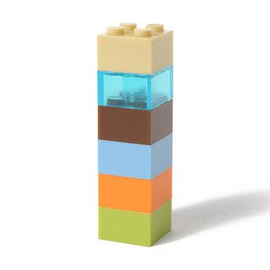 Bouwsteen magneten - set van 6 stuks