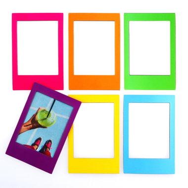 Rainbow magnetische fotoframes - set van 6 stuks